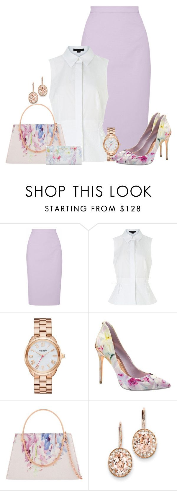 """Ted Baker"" by kimzarad1 ❤ liked on Polyvore featuring Raoul, Alexander Wang, Kate Spade, Ted Baker and Kevin Jewelers"