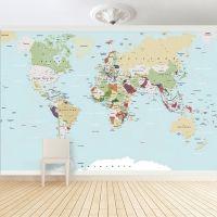Fototapete - Große Weltkarte | Tapeten, Kinderzimmer ...
