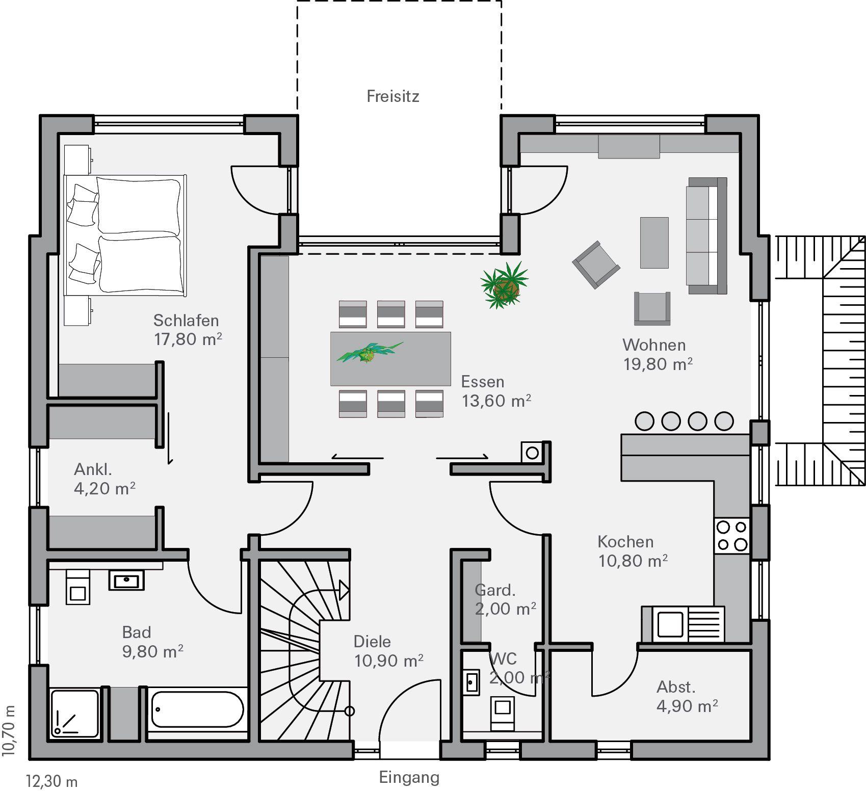 Grundriss EG Rothe | bauen | Pinterest | Haus, Haus und Bad