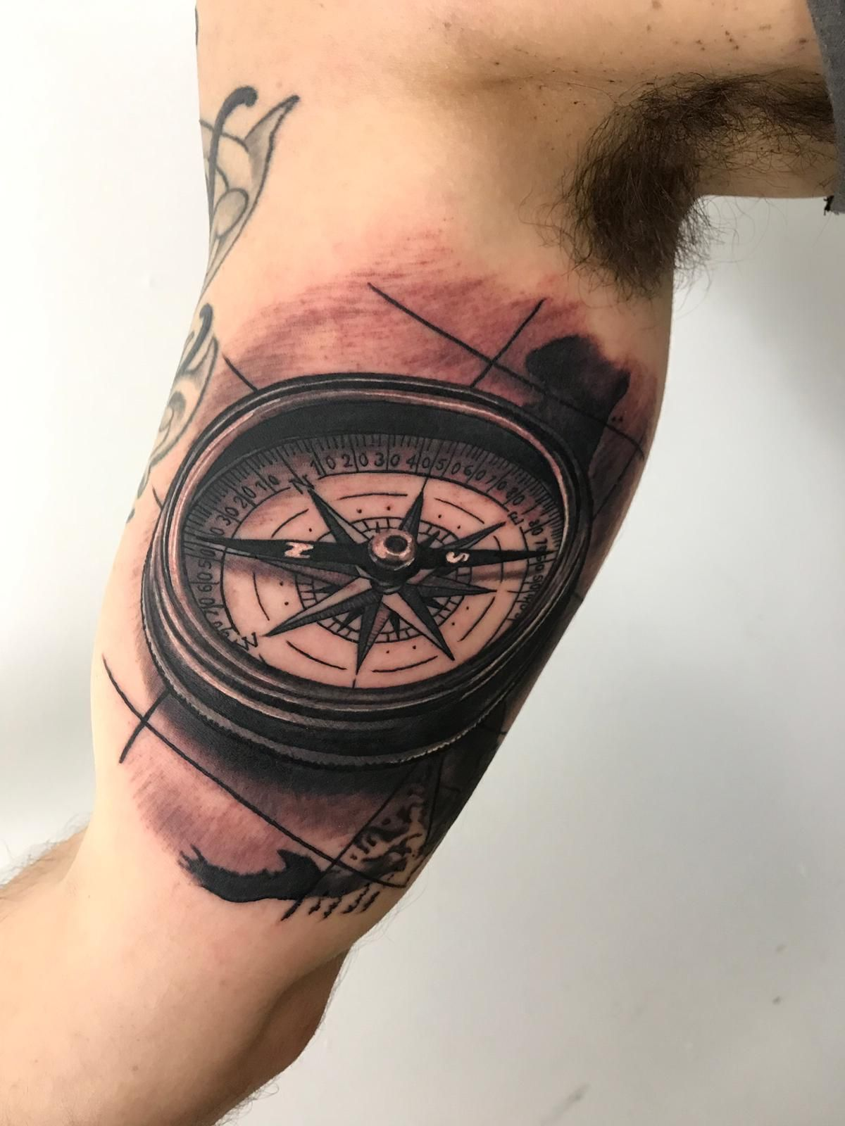 2633e60fc Compass tattoo by Kris R! Limited availability at Revival Tattoo Studio!