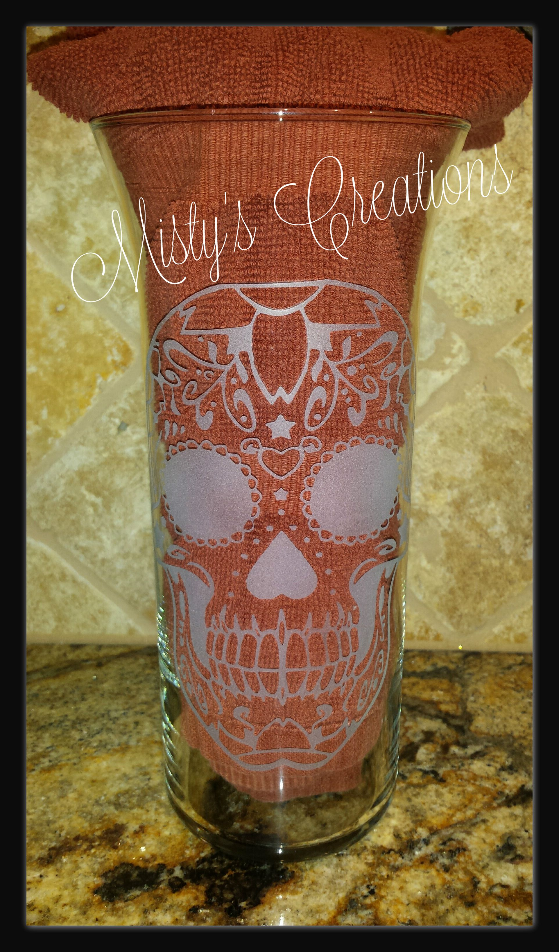 This 9 Vase Was A Wedding Gift The Sugar Skull Was The Same Design