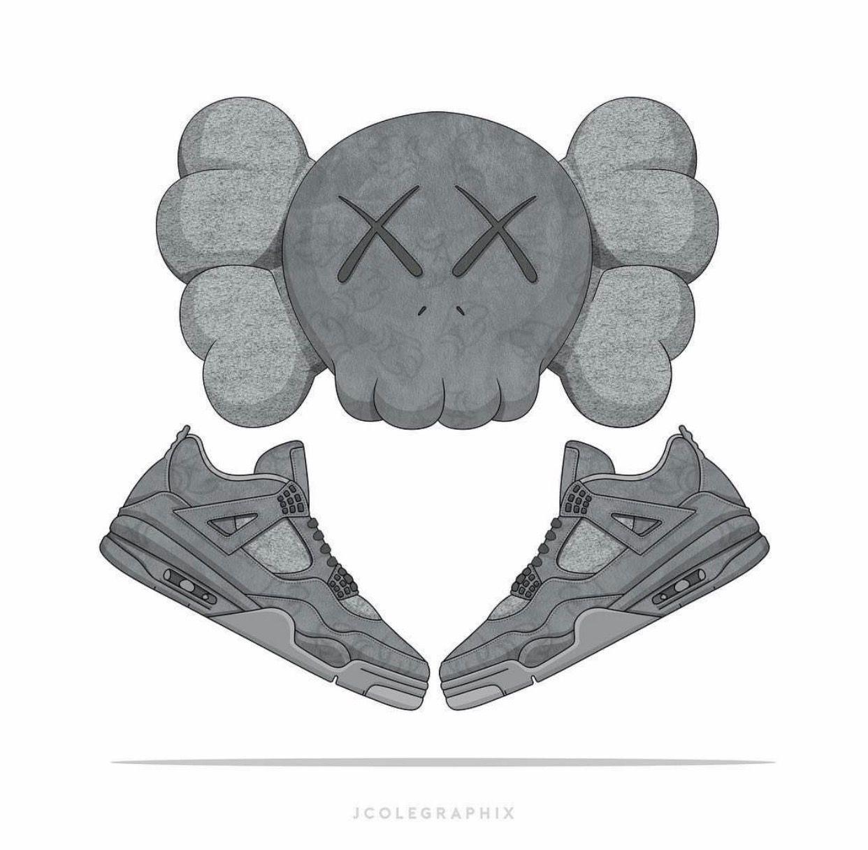 Kaws X Jordan IV Sneaker brain Pinterest Jordan iv