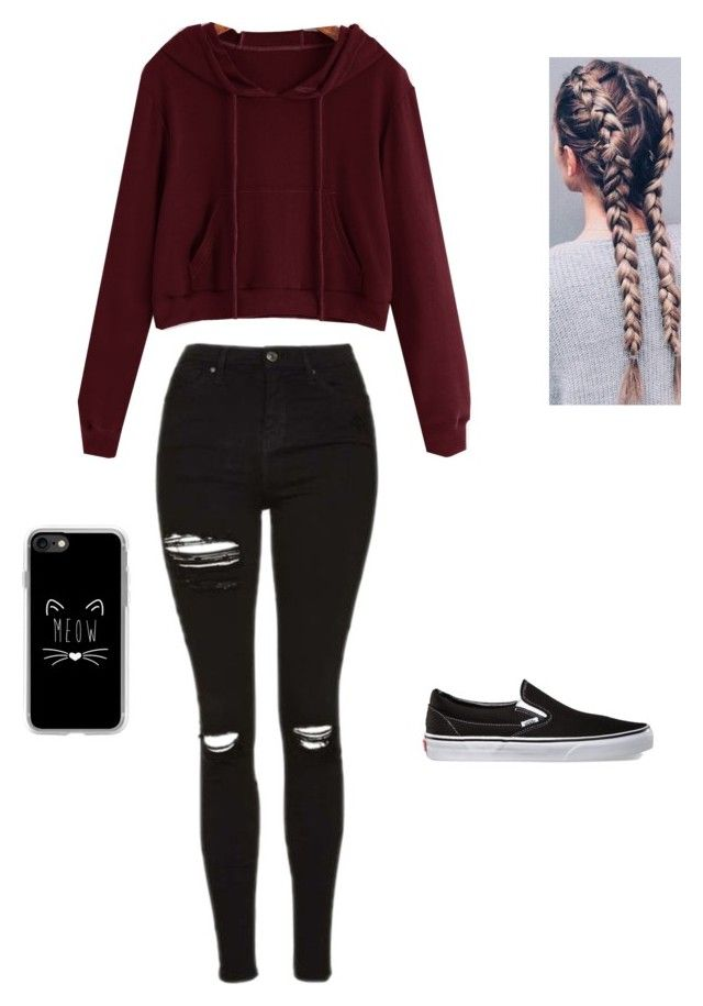 """""""School"""" by shernandez018 ❤ liked on Polyvore featuring Vans and Casetify"""