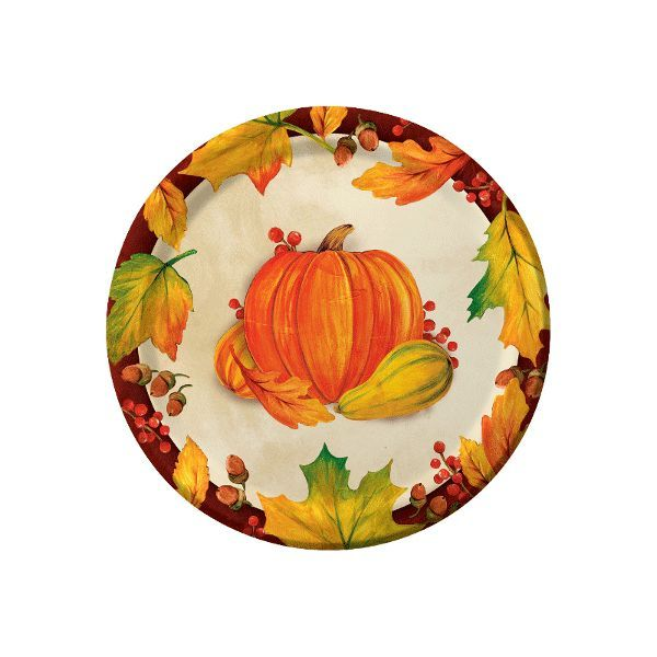 Serve up the harvest's blessings with these Harvest Blessings Dessert Plates. #Fall #plates #harvest