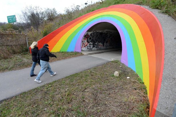 Don Valley Parkway Rainbow Gets A Makeover With Images Rainbow