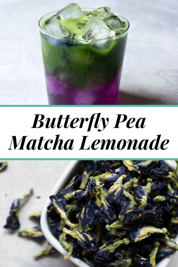 Butterfly pea matcha lemonade summer tea recipes matcha