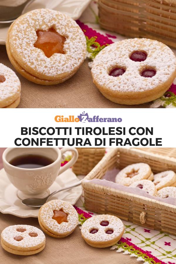Biscotti Di Natale Tirolesi.Biscotti Tirolesi Con Confettura Di Fragole Ricetta Nel 2019