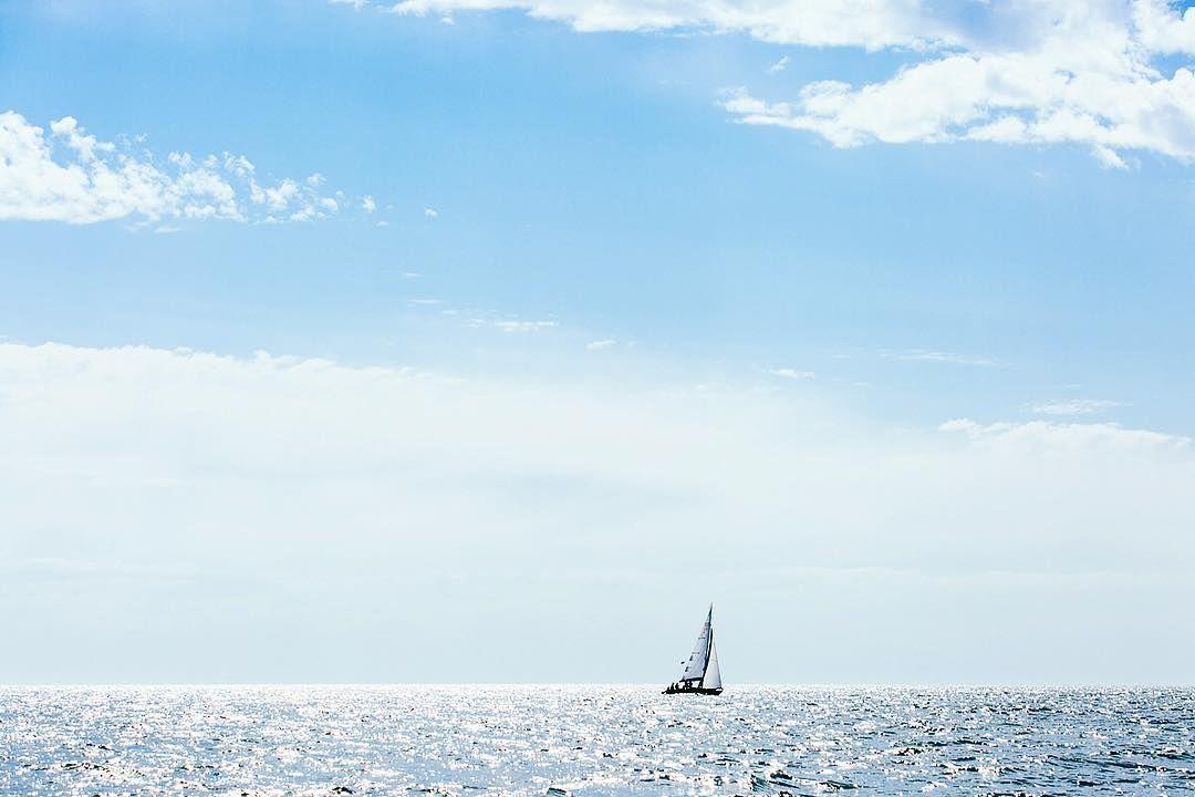 #sea #yacht #sky #blue #balticsea #море #яхта #регата #балтика #балтийскоеморе