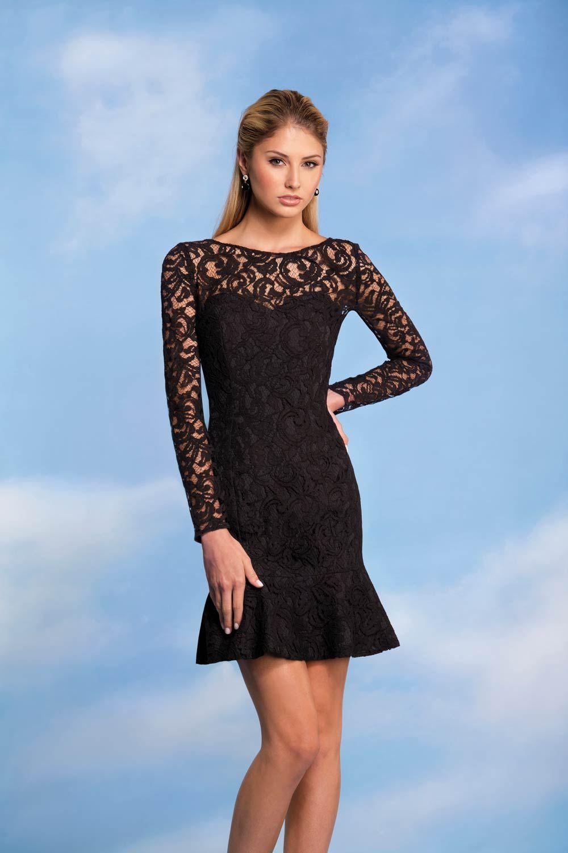Long sleeve black wedding dresses  Black Bridesmaid Dresses for Every Style of Wedding  Black