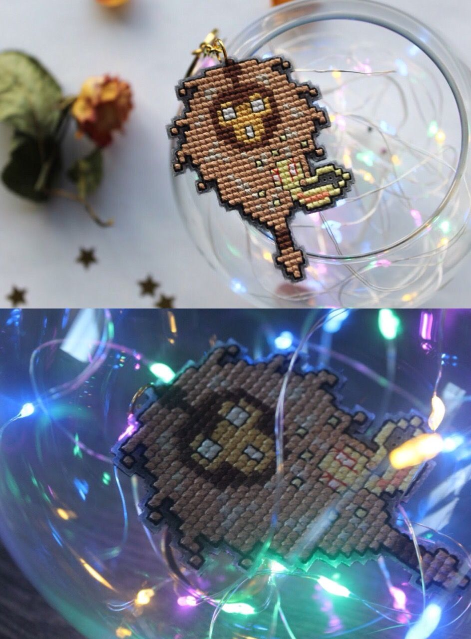 Bard keychain league of legends cross stitch video game