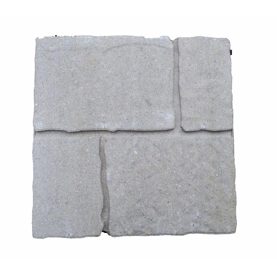 Cobble Stone Sand Hill Concrete Patio Stone Common 16 In X 16 In Actual 15 7 In X 15 7 In Lowes Com Patio Stones Concrete Patio Paver Patio