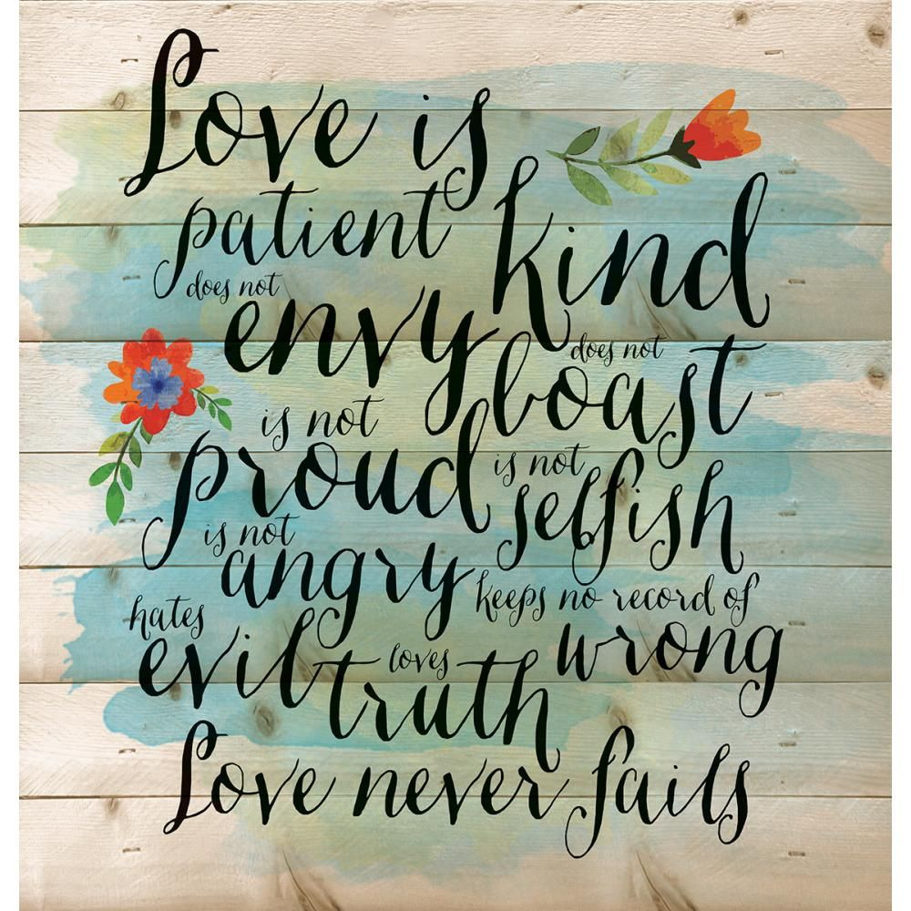 Love Is Patient Love Is Kind  Plaques With Uniquely Romantic Quotes For Your Soulmate