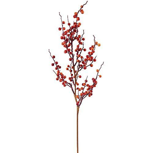 30 inch Fall Wild Berry Decorative Chistmas Spray. Weather Resistant for Indoor and Outdoor Use.