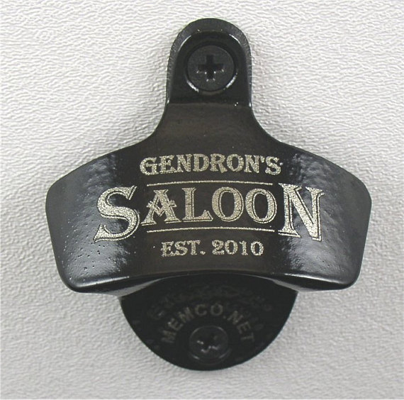 Set of 4 Bottle Openers Groomsmen Gifts - Wall Mount Bottle
