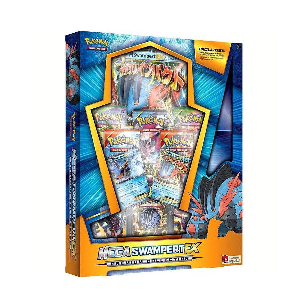 Pokemon Mega Swampert Ex Mega Evolution Premium Collection