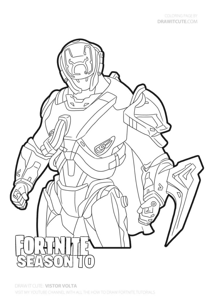 Fortnite Coloring Pages Rare Skins Amazing Design