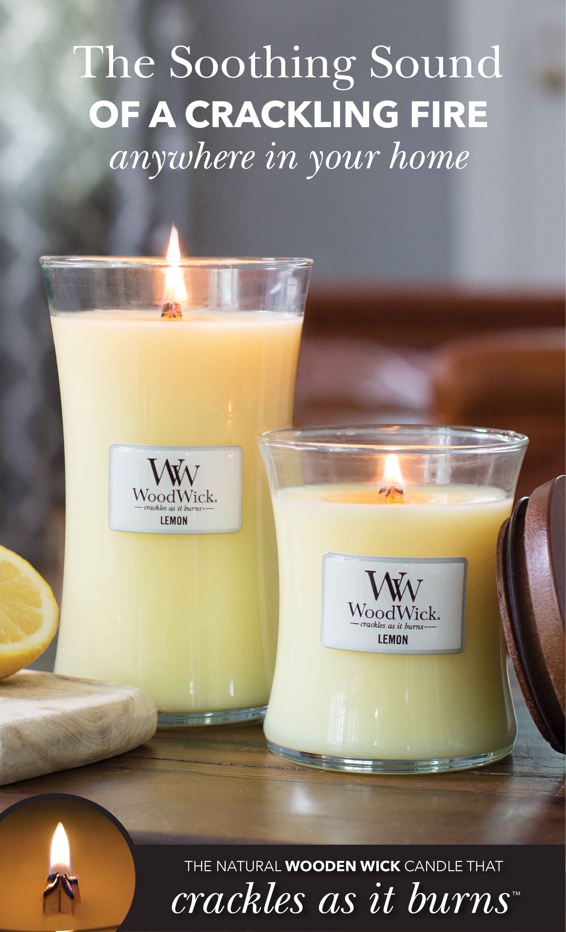 Woodwick Candles Feature A Natural Wooden Wick That Creates A