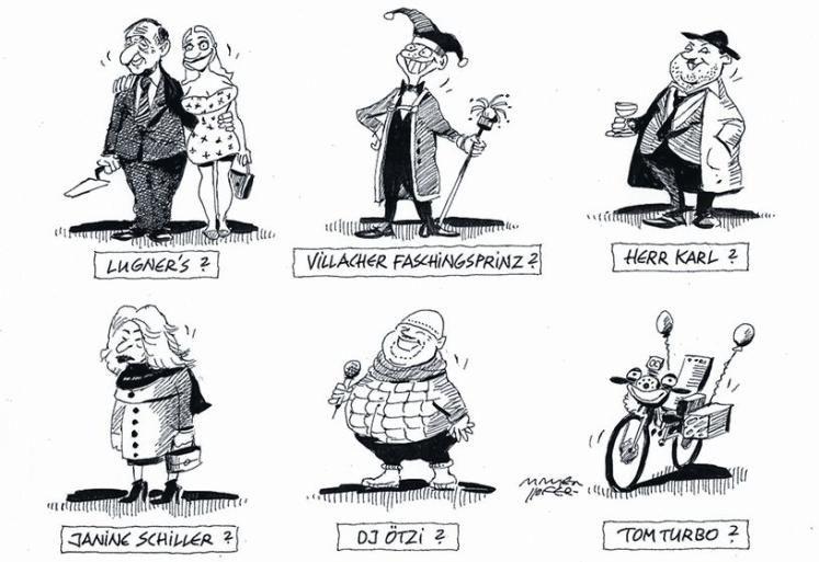 """OÖN-Karikatur vom 30. Jänner 2016: """"Weitere Hofburgkandidaten nicht ausgeschlossen ..."""" Mehr Karikaturen auf: http://www.nachrichten.at/nachrichten/karikatur/ (Bild: Mayerhofer)"""