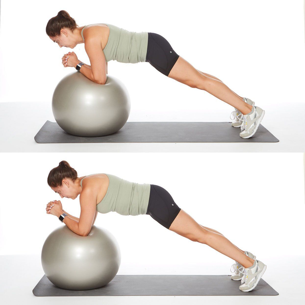 These Is the Ultimate List of Ab Exercises, According to Trainers #sideabworkouts full-abs-workout-stability-ball-roll-out #sideabworkouts