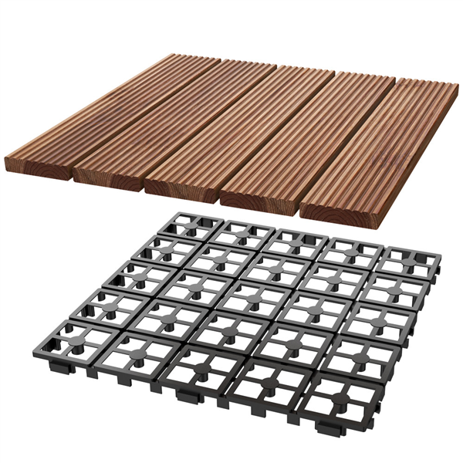 Topeakmart Patio Pavers Decking Flooring Deck Tiles 12 X 12 Interlocking Outdoor Indoor Wood Tiles 11pcs Walmart Com In 2020 Paver Patio Wood Tile Patio Tiles