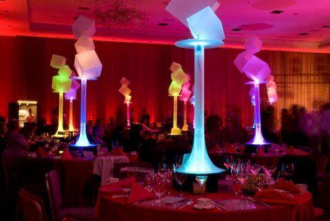 5 ideas para centros de mesa LED - mazelmoments.com