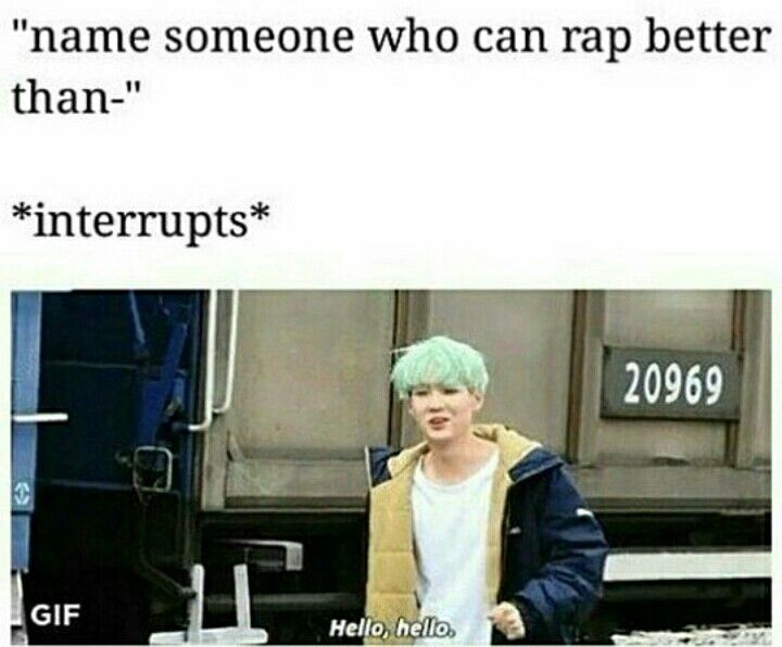 Let me introduce Min Yoongi, he got more sweg than u can dream of and raps like a god!
