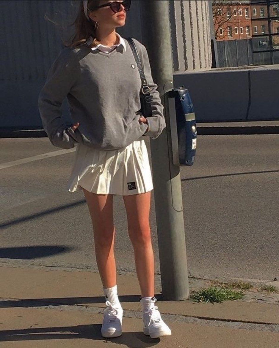 Urbanistreetwear On Instagram Tennis Skirt Fits In 2020 Tennis Skirt Outfit Fashion Inspo Outfits Streetwear Fashion