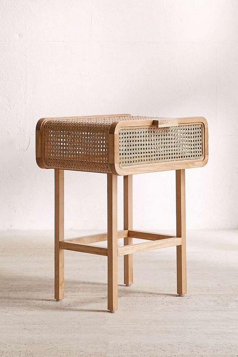 20+ Inspiring Rattan Bedside Table Designs You Can Make ...