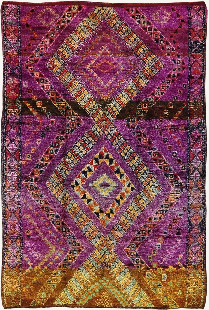 """""""Vintage Tribal Moroccan Rug Azilal Tribe"""" Glorious colours and pattern"""