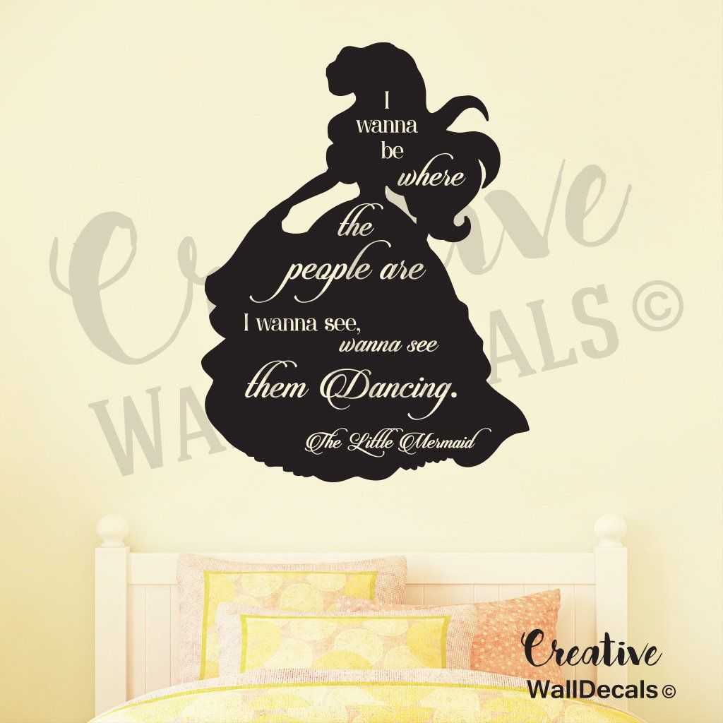 """Vinyl Wall Decal Sticker Little Marmaid Quote Nursery Kids Bedroom Girls r1882. ATTENTION!!! This is a product by CREATIVEWALLDECALS® Company . DON'T WRITE A FEEDBACK IF YOU BOUGHT THIS PRODUCT FROM CHINA. CreativeWallDecals® is a registered trademark and the only authorized seller of CreativeWallDecals® branded products . OTHER SELLERS ARE SELLING FORGERY. Please check to see that it is """"Sold by CreativeWallDecals"""" before you click Add to Cart . We can't guarantee quality of decals from..."""