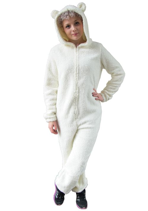 white fluffy onesie with ears for adults - Google Search  6c5e988e1cbc