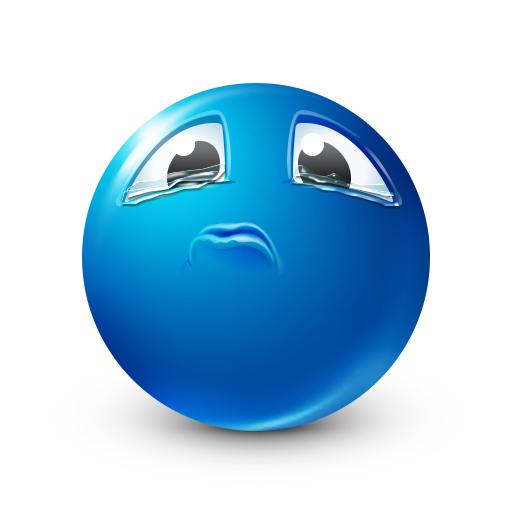 Tearing Up   Blue Smileys   Blue emoji, Emoji faces, Emoticon