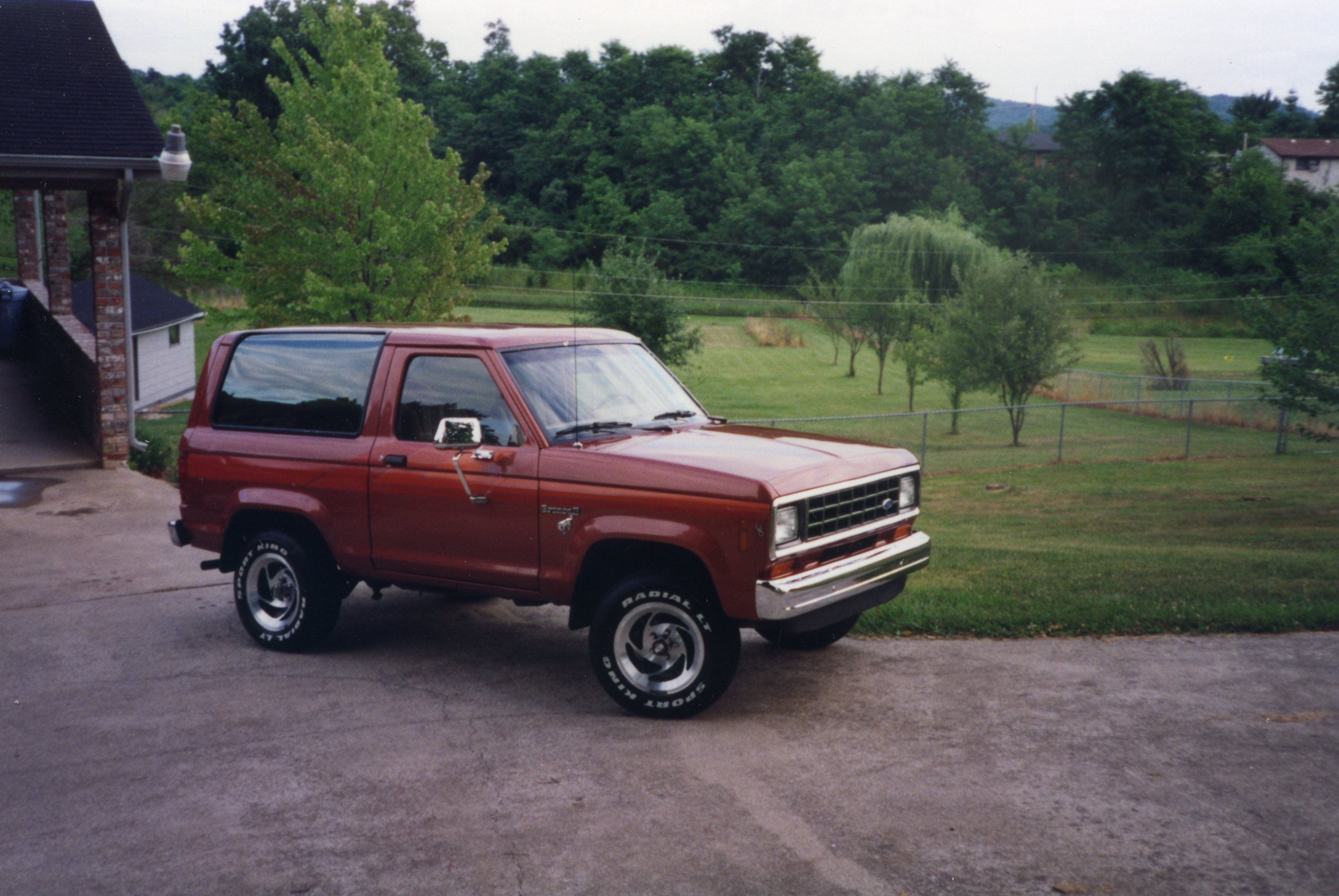 1984 Ford Bronco Ii Red With Orange Stripes My First Car Memories 1980 Mirror
