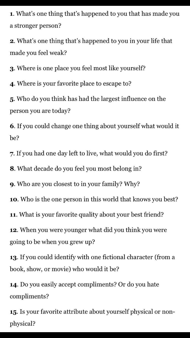 best dating questions to ask yourself about life