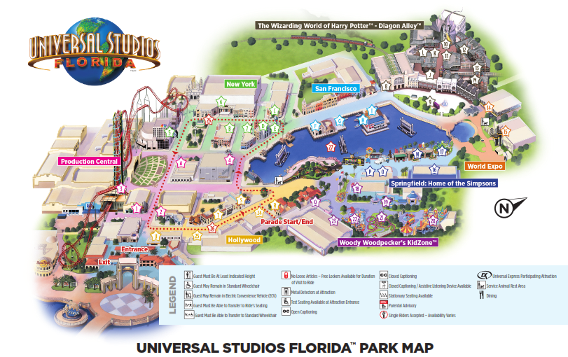 Universal Studios Florida Park Map Pin on Universal Orlando Resort   What to Do