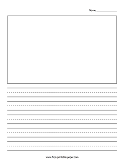 Download This Printable Writing Paper With Picture Box And Use It In You Kindergarten C Writing Paper Printable Free Writing Paper Printable Free Writing Paper