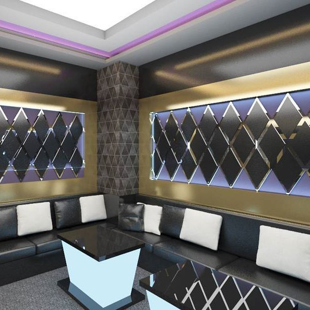 Semicircular Ktv Room Interior Design: Another Project Of Karaoke Room Location: Pontianak Design