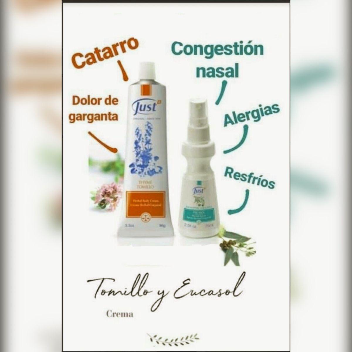 Eucasol Y Tomillo Just Productos Consejos Para La Salud Aceites Just