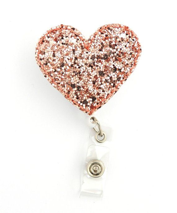 RN badge reel - Rose gold Badge reel - Heart badge reel
