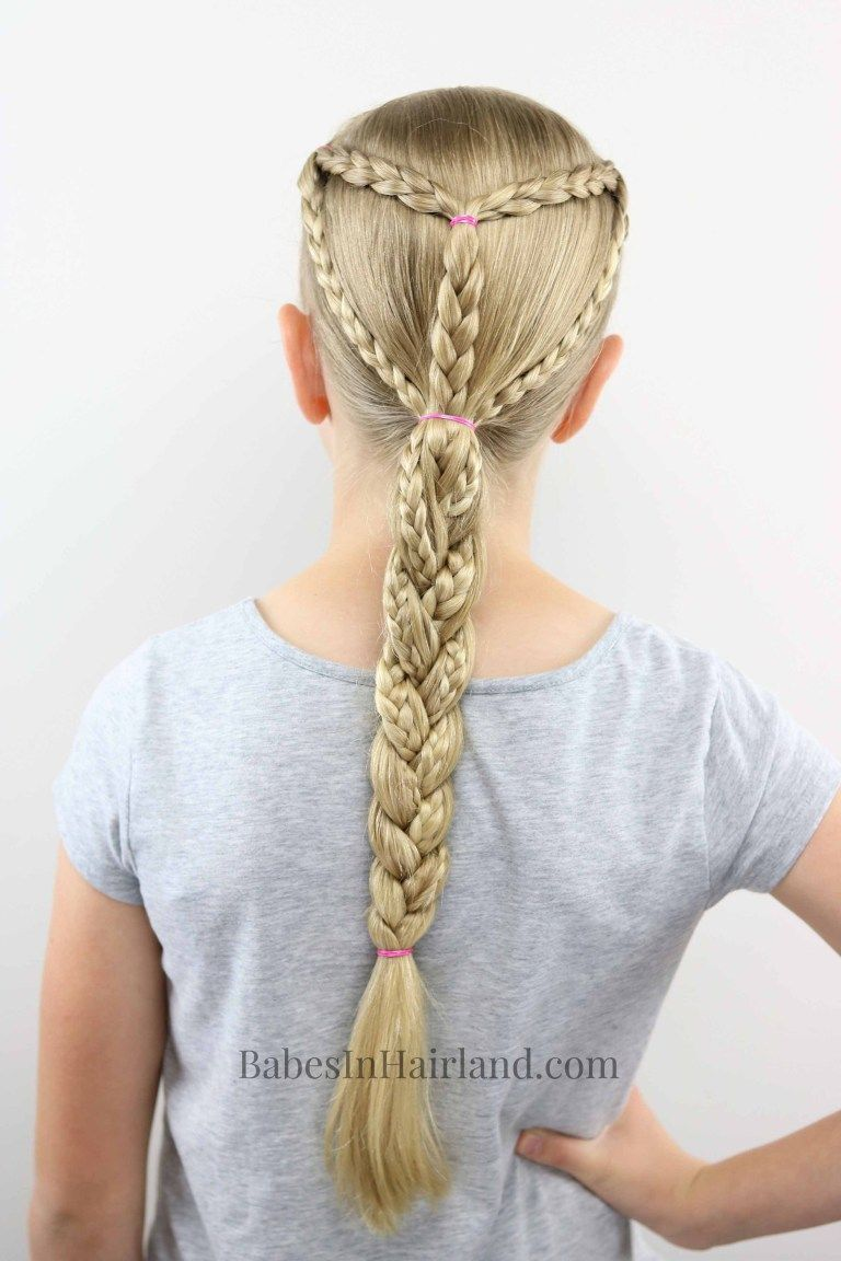 Summer and sports braided hairstyle for all your outdoor activities