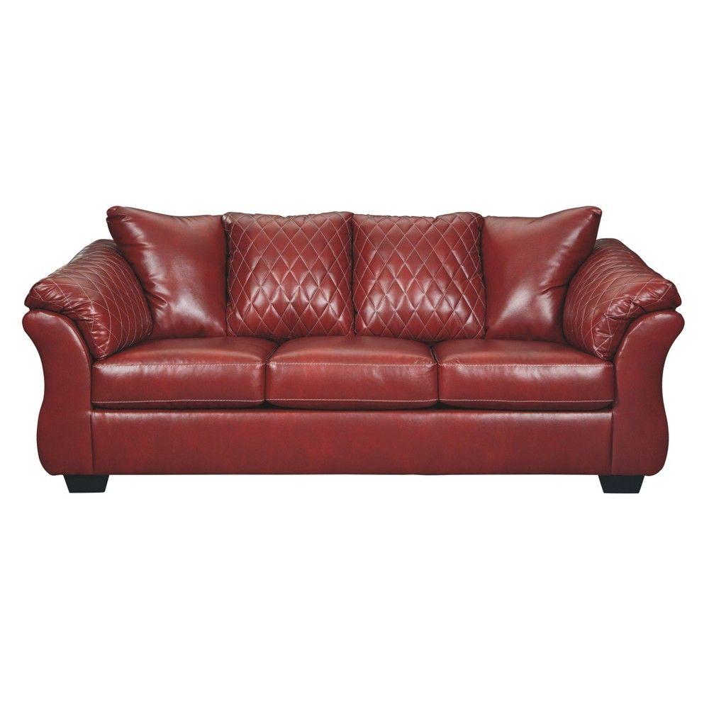 Best Betrillo Sofa Salsa Red Signature Design By Ashley Signature Design Sofa Spacious Sofa 400 x 300