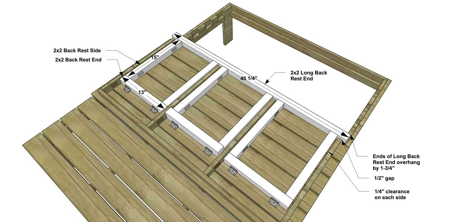 You Can Build This! Easy DIY Plans from The Design Confidential Free DIY Furniture Plans // How to Build A Kid's Double Chaise + Awning via @thedesconf