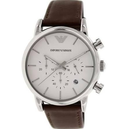 Emporio Armani Men's Classic AR1846 Brown Leather Quartz Watch - Brought to you by Avarsha.com