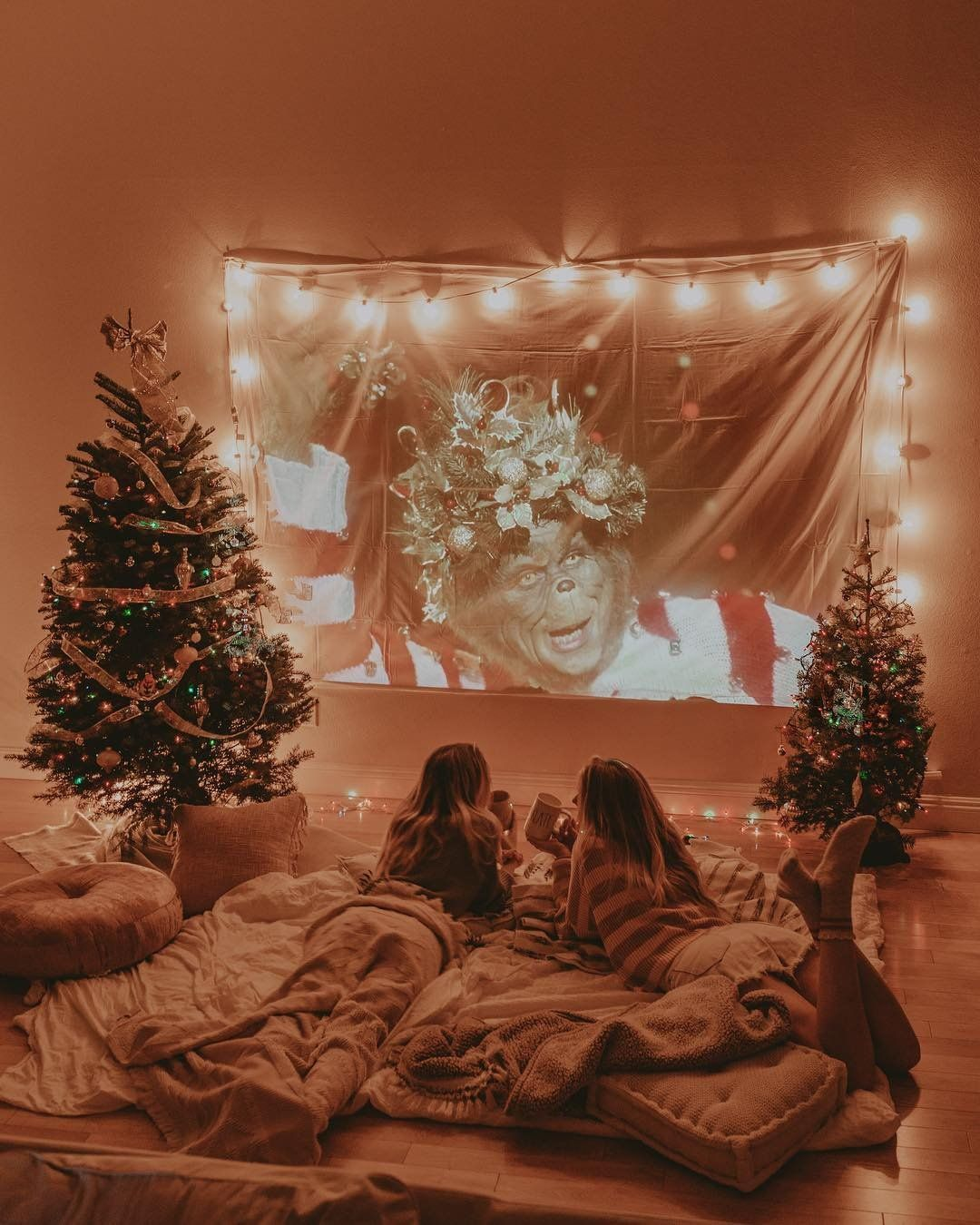 Uotech Christmas Movie Night Christmas Bedroom Cozy Christmas