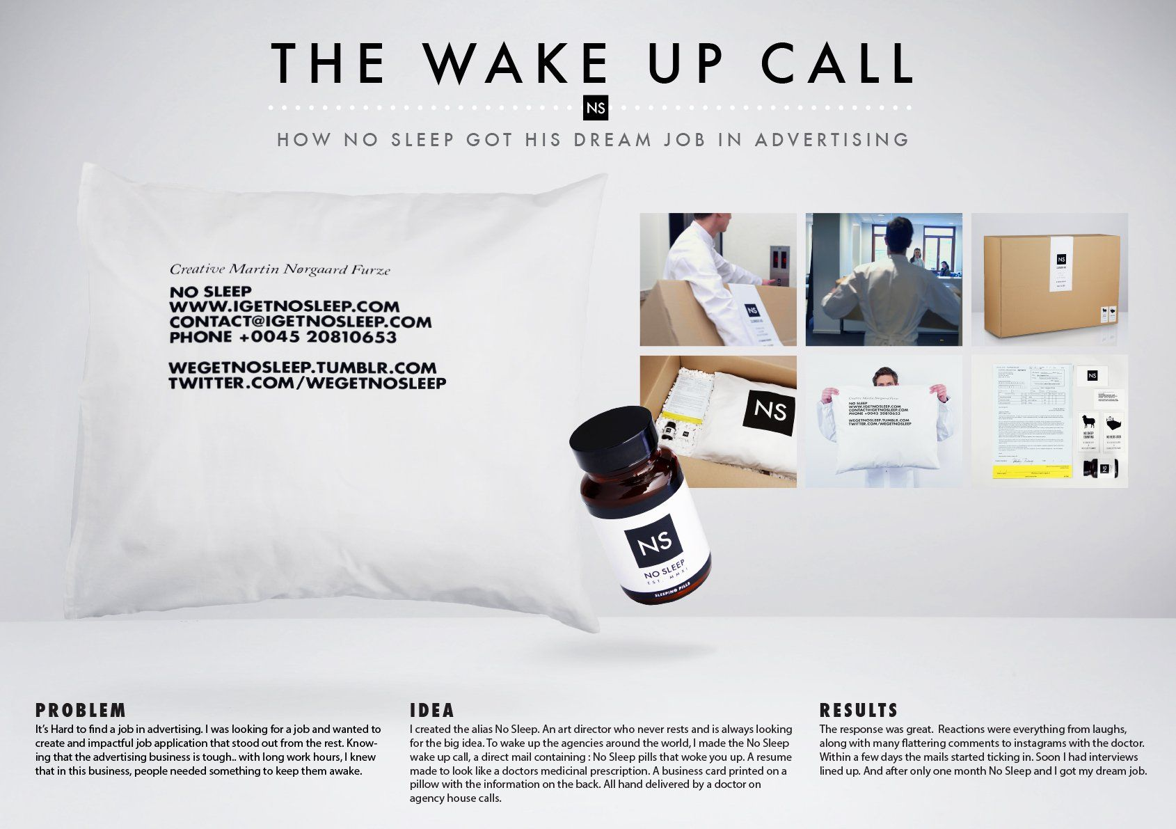 No Sleep The Wake Up Call Medical Business Card Self Promo