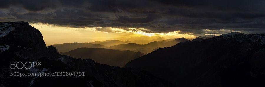 Mountains in sunset - Pinned by Mak Khalaf OLYMPUS DIGITAL CAMERA Nature alpsaustriabeautifulbluecloudsdarklightmountainsnightskysunsunrisesunsettravelwinter by VclavRak
