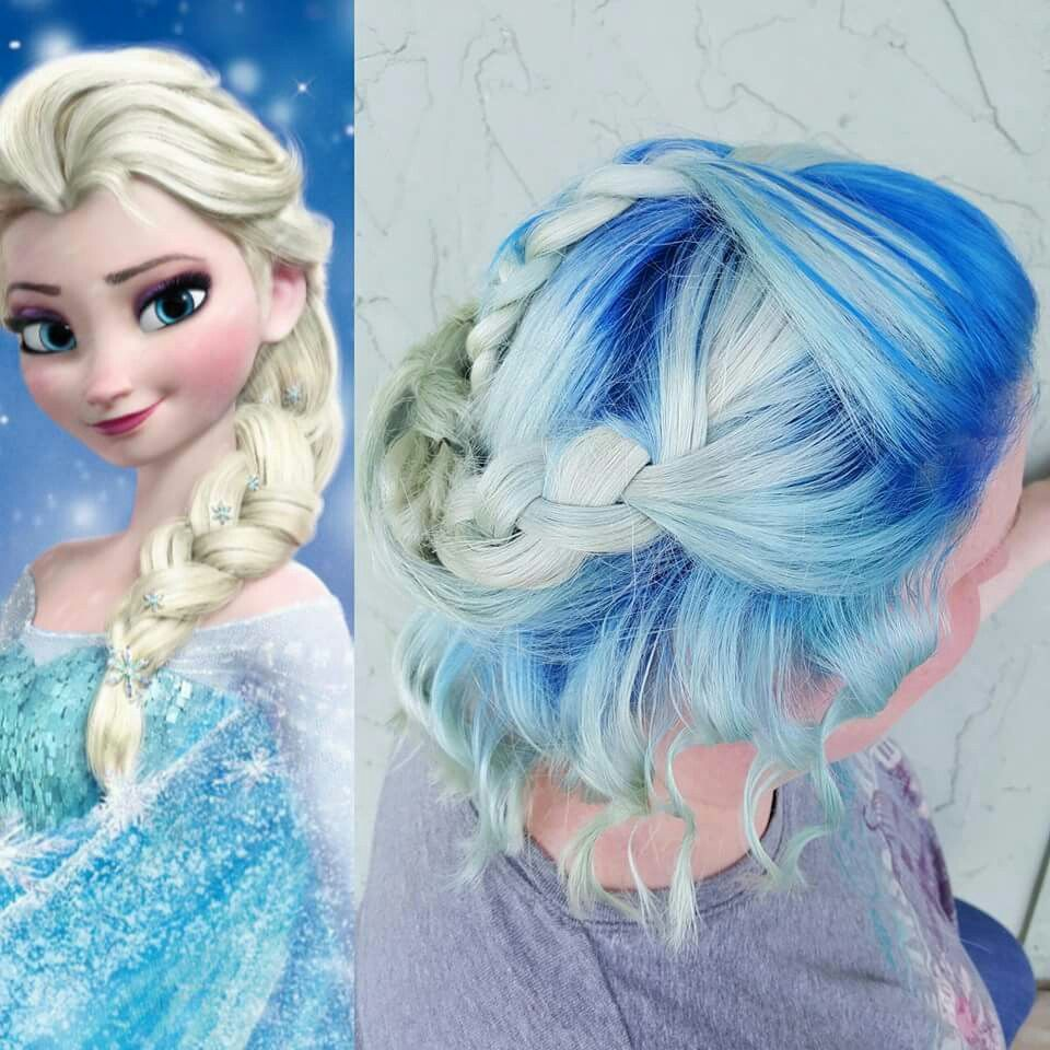Frozen Hair White Hair White And Blue Hair Blue Hair Pravana