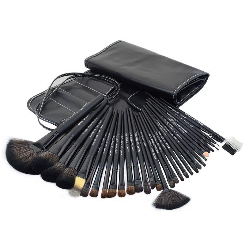 32 stks zwart Professionele make borstels set cosmetische borstel kit case make up borstel kits make schoonheid gezichtsverzorging tool voor u