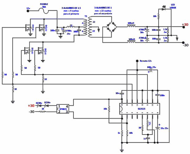 Sg3525 Inverter Circuit Diagram Circuit Diagram Circuit Circuit Design