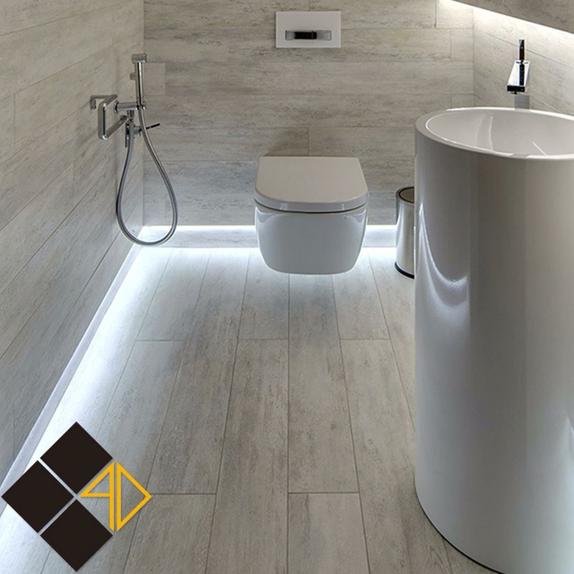 Sleek bathroom.. Courtesy: Aba AlDahab